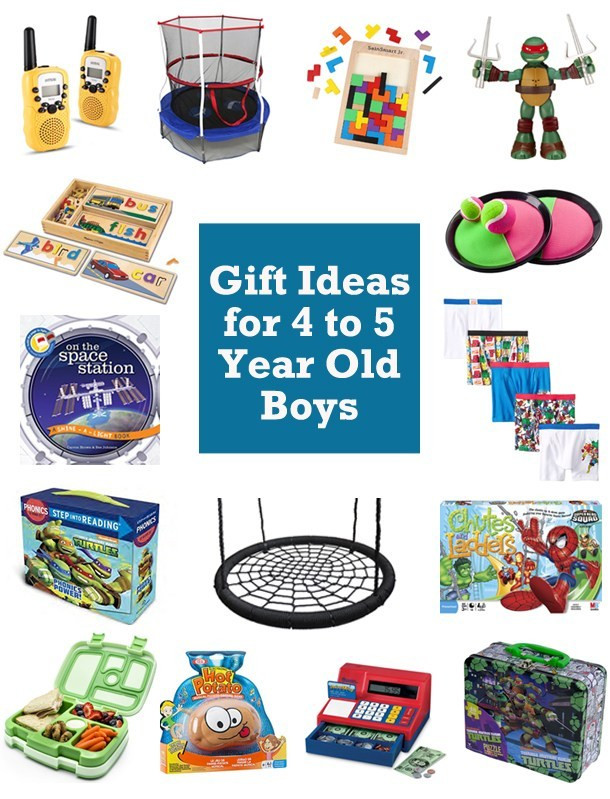 Best ideas about Gift Ideas For 5 Year Old Boys . Save or Pin 15 Gift Ideas for 4 and 5 Year Old Boys [2016] Now.