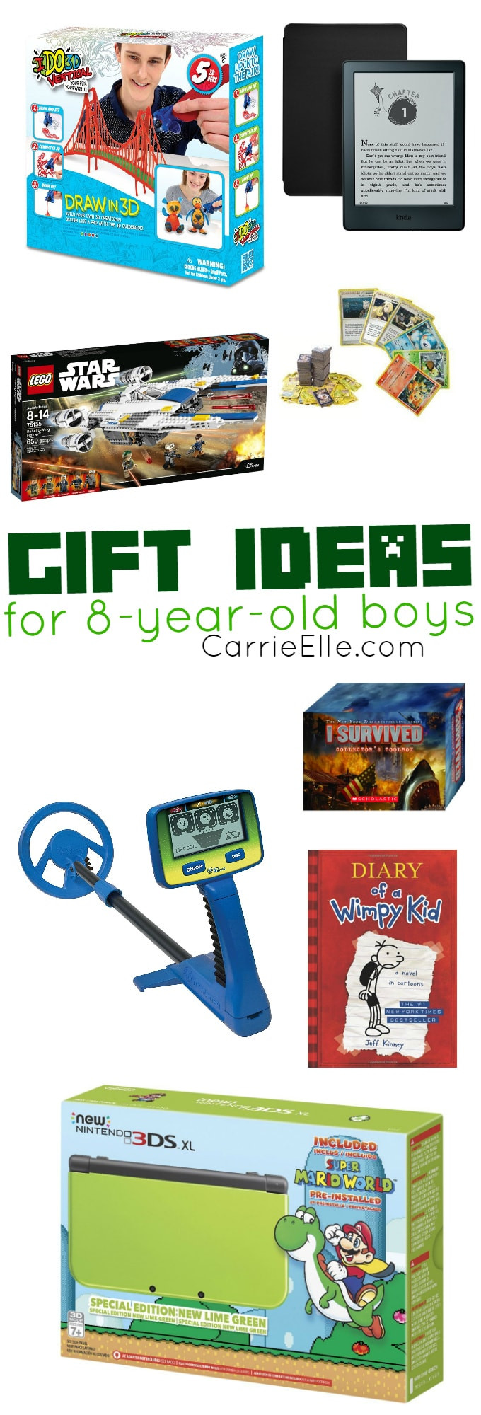 Best ideas about Gift Ideas For 8 Yr Old Boy . Save or Pin Gift Ideas for 8 Year Old Boys Carrie Elle Now.