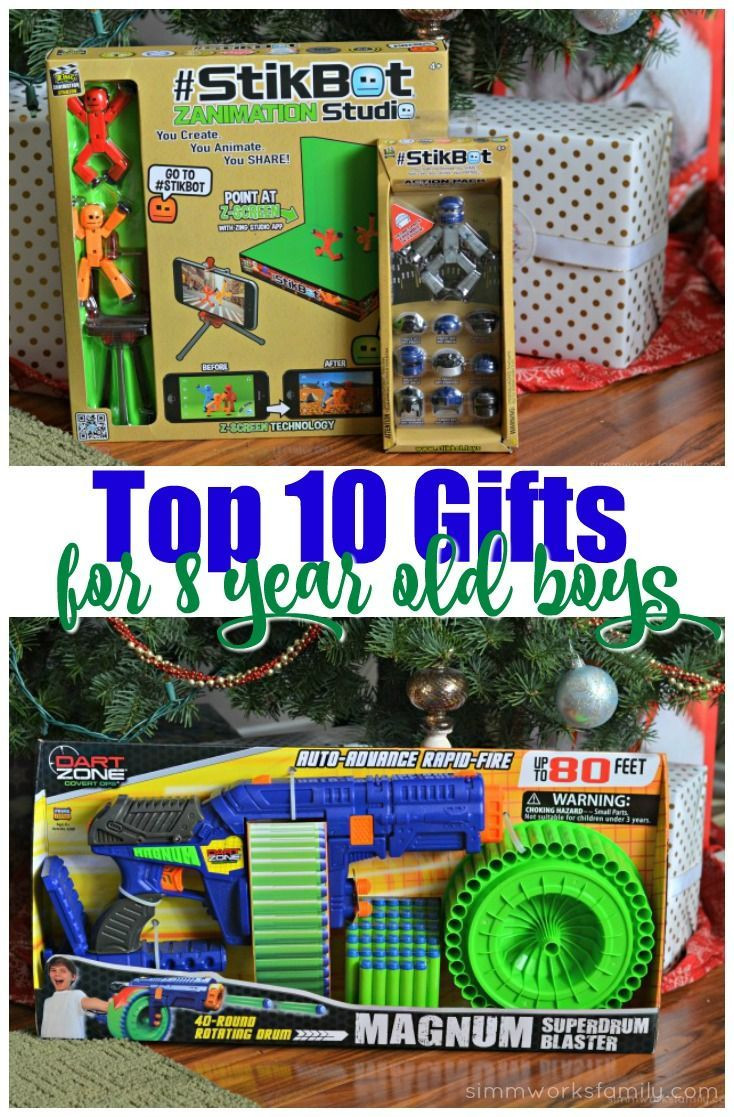 Best ideas about Gift Ideas For 8 Yr Old Boy . Save or Pin Top 10 Gifts for 8 Year Old Boys Gift Ideas Now.