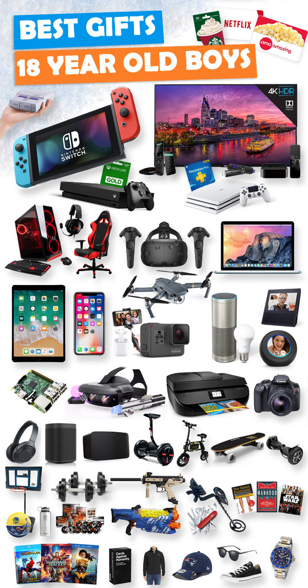Best ideas about Gift Ideas For A 12 Year Old Boy . Save or Pin Gifts For 18 Year Old Boys Now.