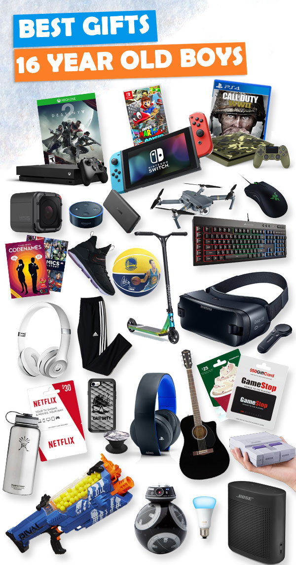 Best ideas about Gift Ideas For A 16 Year Old Boy . Save or Pin Gifts for 16 Year Old Boys Now.
