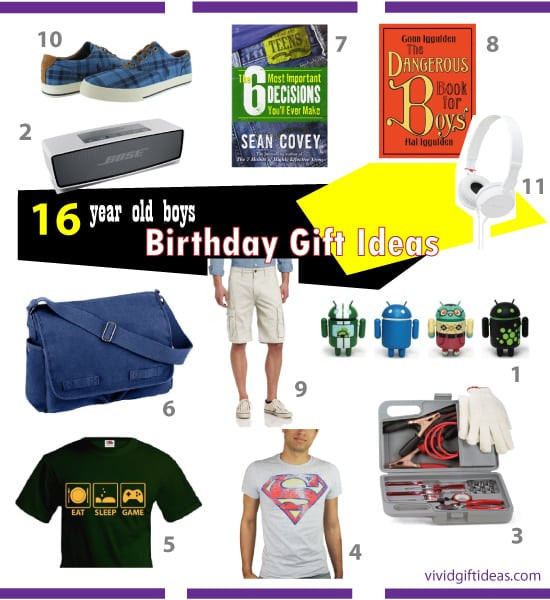 Best ideas about Gift Ideas For A 16 Year Old Boy . Save or Pin Good Birthday Gifts for 16 Year Old Boys Vivid s Now.
