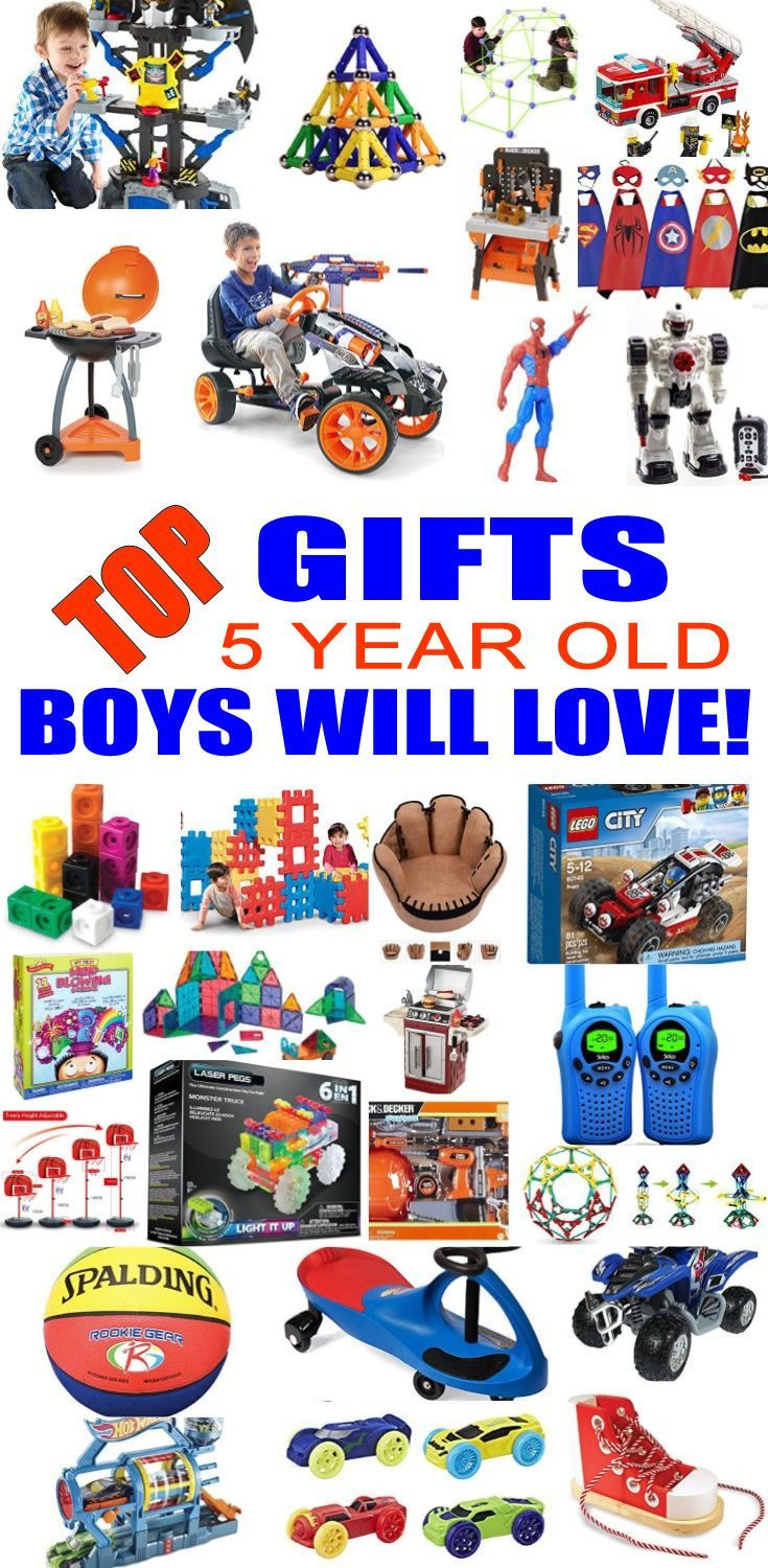 Best ideas about Gift Ideas For A 5 Year Old Boy . Save or Pin Top Gifts 5 Year Old Boys Want Now.