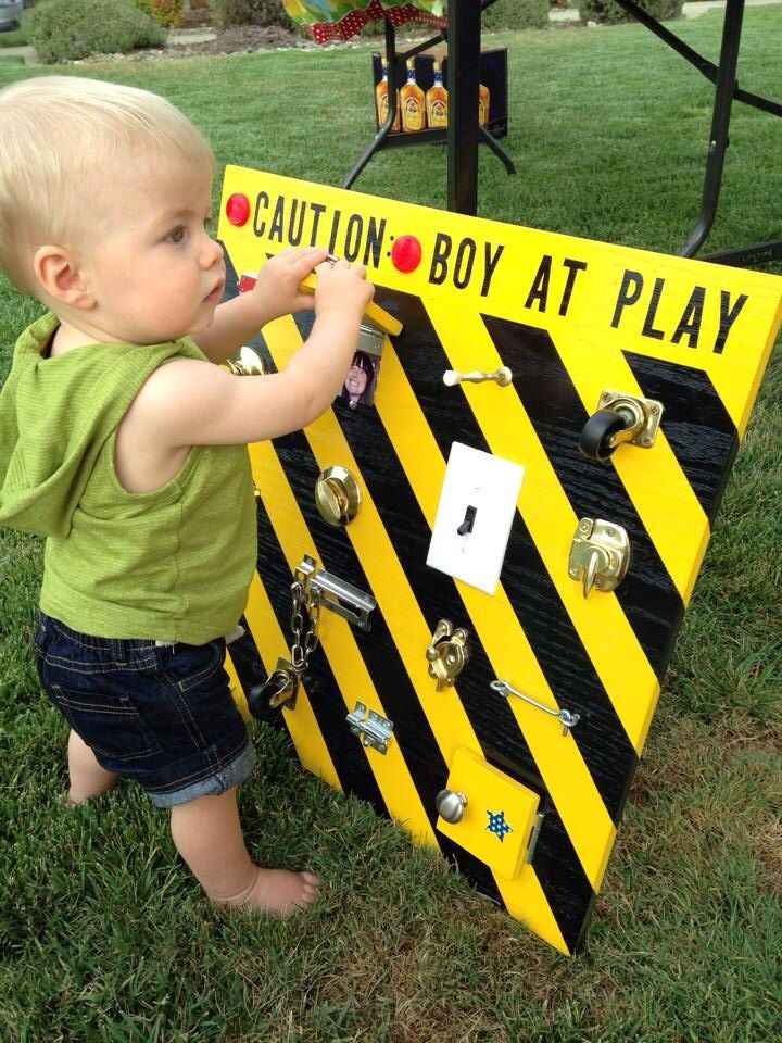 Best ideas about Gift Ideas For Baby Boy 1 Year Old . Save or Pin Boy at play board 1 year old birthday t Genius Idea Now.