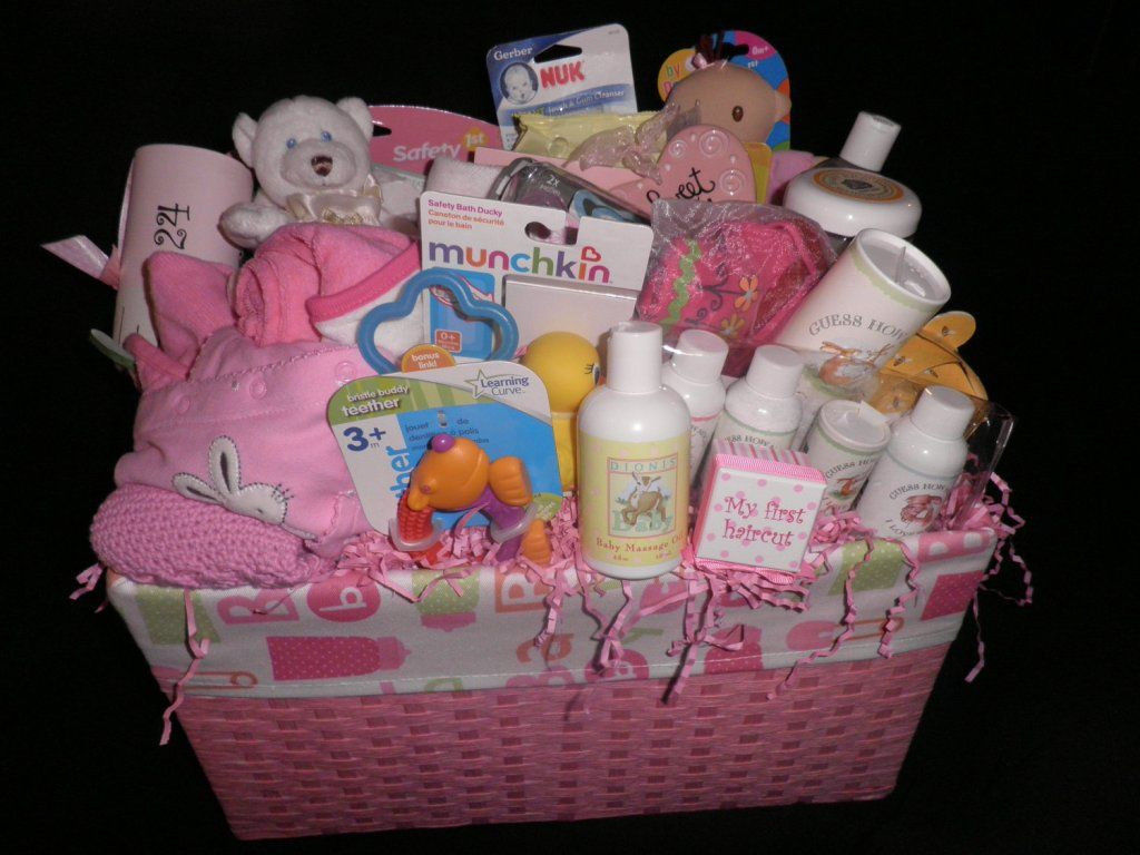 Best ideas about Gift Ideas For Baby Girl . Save or Pin Homemade Baby Shower Gift Baskets Ideas Baby Wall Now.