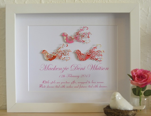 Best ideas about Gift Ideas For Baptism Baby Girl . Save or Pin Love Bird Baby Girl Unique Christening Poem Gift Idea Now.