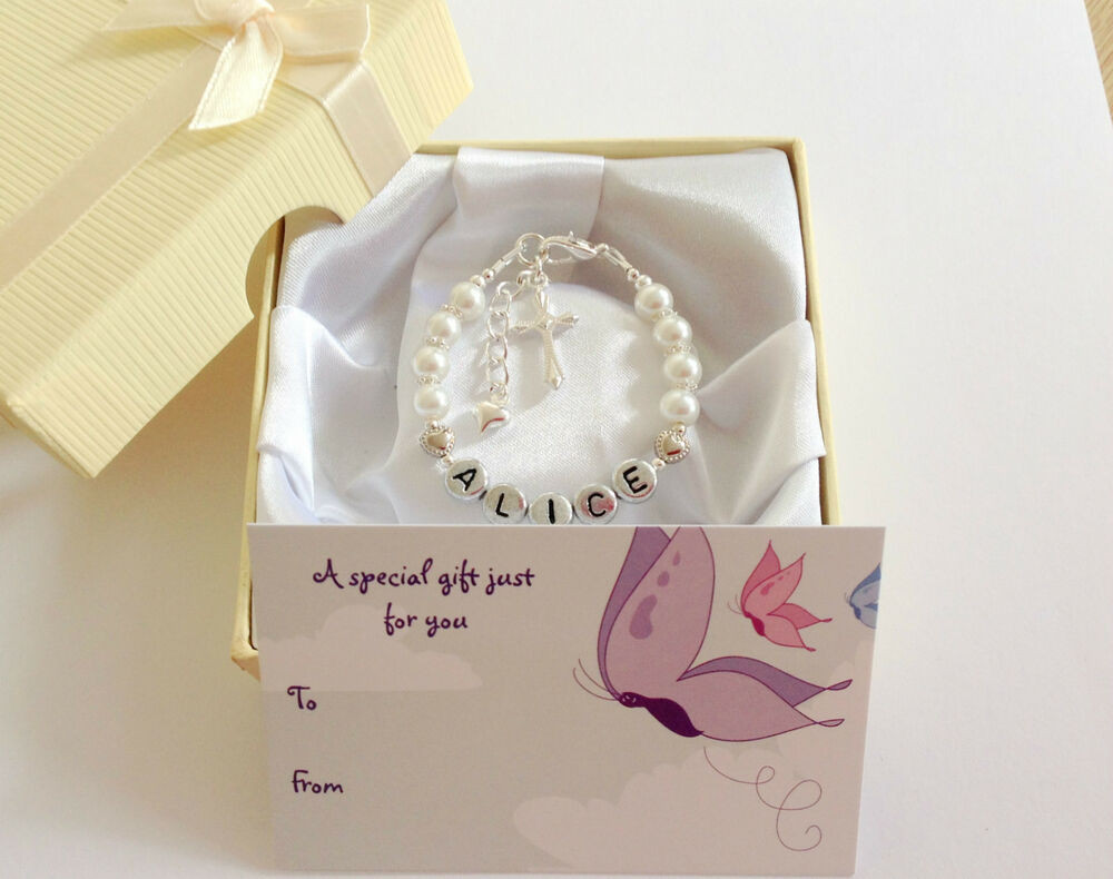Best ideas about Gift Ideas For Baptism Baby Girl . Save or Pin new baby child girl personalised christening name Now.