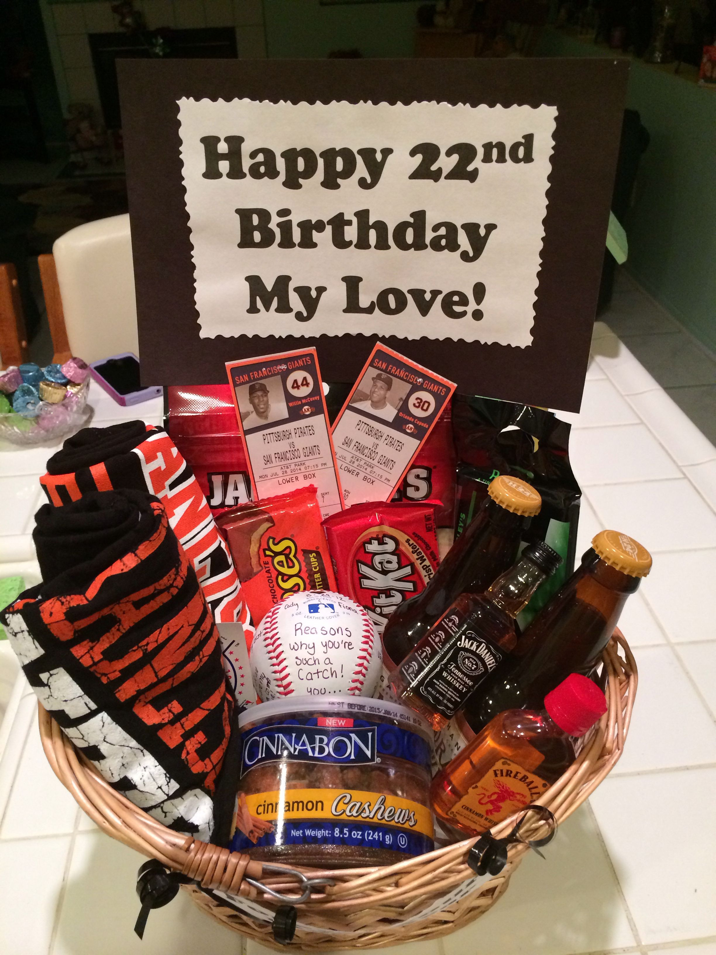 Best ideas about Gift Ideas For Boyfriends Birthday . Save or Pin SF Giants Baseball t basket for my boyfriend s birthday Now.