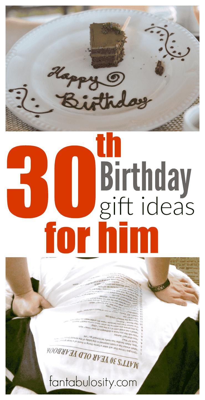 Best ideas about Gift Ideas For Boyfriends Birthday . Save or Pin 30th Birthday Gift Ideas for Him Fantabulosity Now.