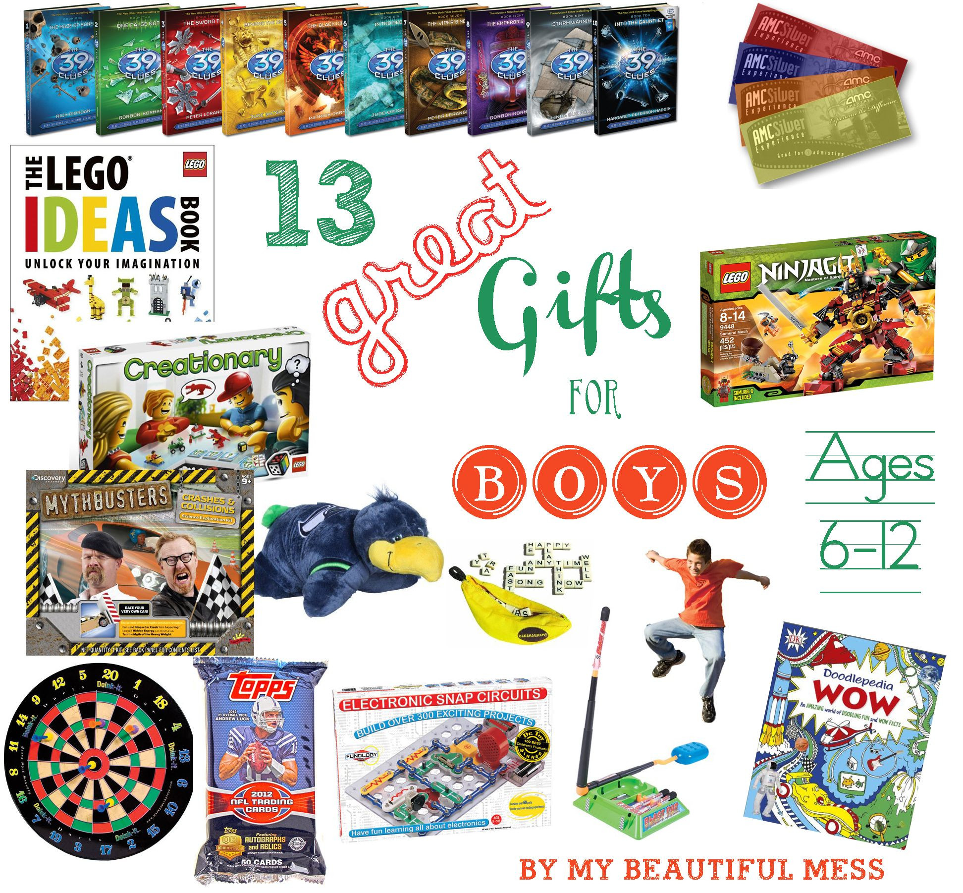Best ideas about Gift Ideas For Boys Age 12 . Save or Pin 13 Great Gift Ideas for Grade School Aged Boys ages 6 12 Now.