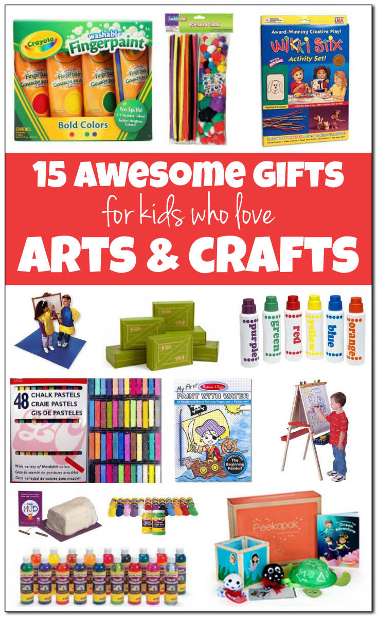 Best ideas about Gift Ideas For Children . Save or Pin 15 of the best arts and crafts ts for kids Now.