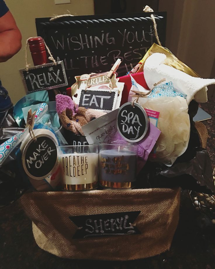 Best ideas about Gift Ideas For Colleagues . Save or Pin Farewell t basket for my coworker emergency kit for Now.