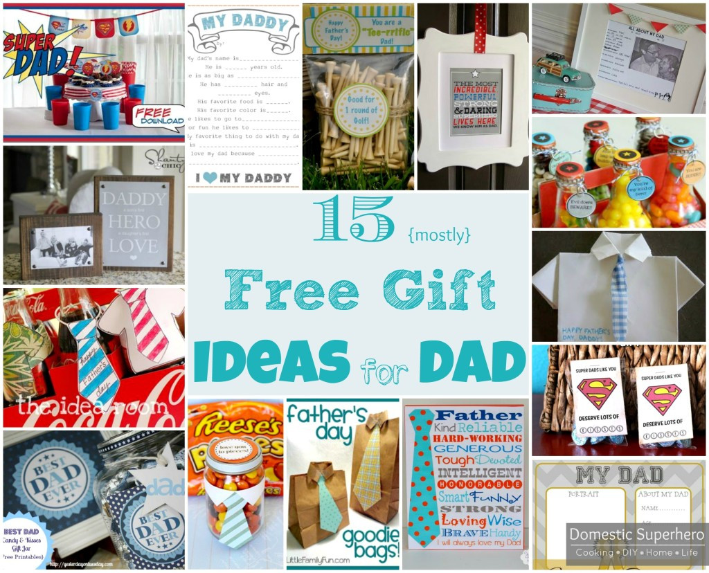 Best ideas about Gift Ideas For Dad Birthday . Save or Pin 15 DIY Father s Day Gifts mostly free ideas • Domestic Now.