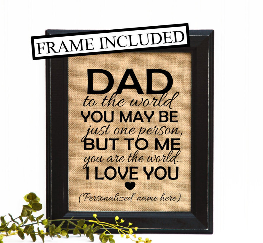Best ideas about Gift Ideas For Dad Birthday . Save or Pin Father from daughter Father from son Dad by Now.