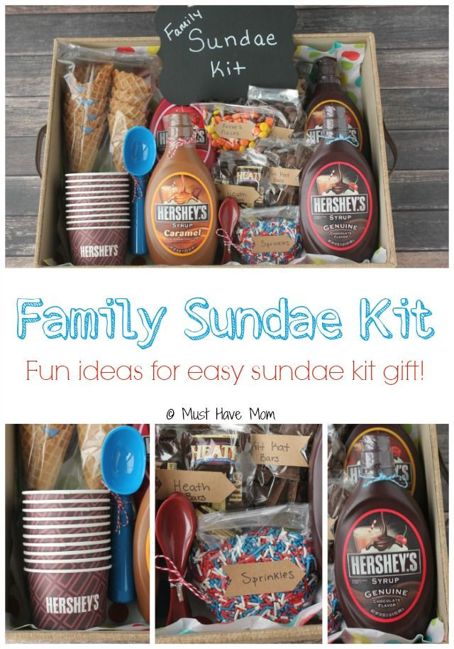 Best ideas about Gift Ideas For Families . Save or Pin DIY Family Sundae Kit Gift Idea Now.