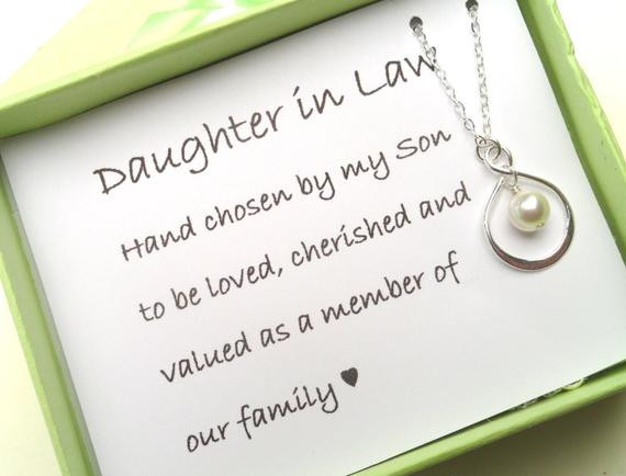 Best ideas about Gift Ideas For Future Daughter In Law . Save or Pin Daughter In Law Gift Gift Boxed Jewelry by Alwaysabridesmade Now.