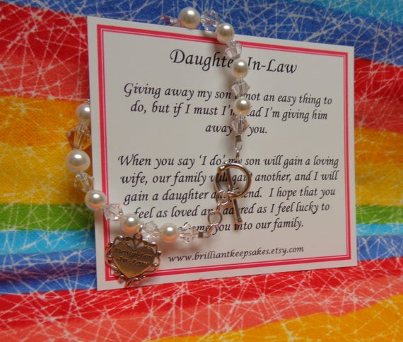 Best ideas about Gift Ideas For Future Daughter In Law . Save or Pin Future Daughter In Law Wedding Gift Bracelet by Now.