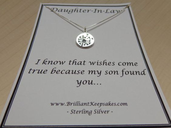Best ideas about Gift Ideas For Future Daughter In Law . Save or Pin Daughter In Law Gift Idea Wishes e True Sterling Silver Now.