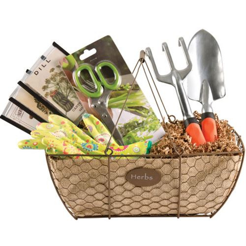 Best ideas about Gift Ideas For Gardeners . Save or Pin Herb Gardening Gift Basket Now.