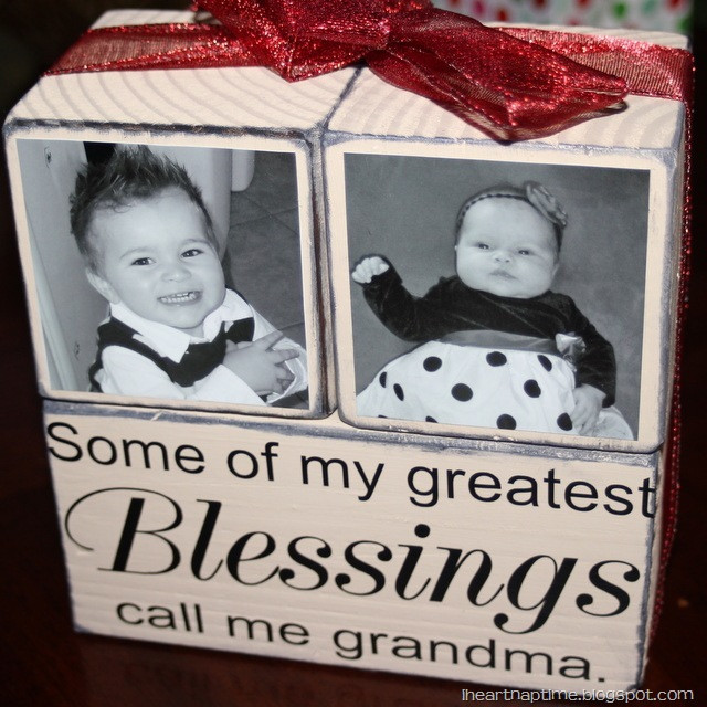 Best ideas about Gift Ideas For Great Grandma . Save or Pin Gift Idea Grandma Blocks I Heart Nap Time Now.