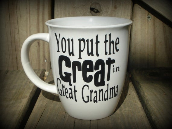 Best ideas about Gift Ideas For Great Grandma . Save or Pin Personalized Great Grandma Cup Great Grandpa Mug Great Now.