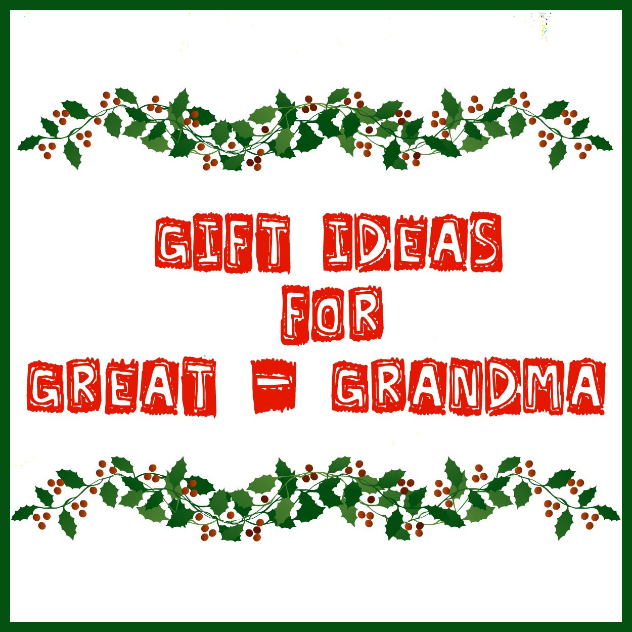 Best ideas about Gift Ideas For Great Grandma . Save or Pin The Bean Sprout Notes Gift Ideas for Great Grandma Now.
