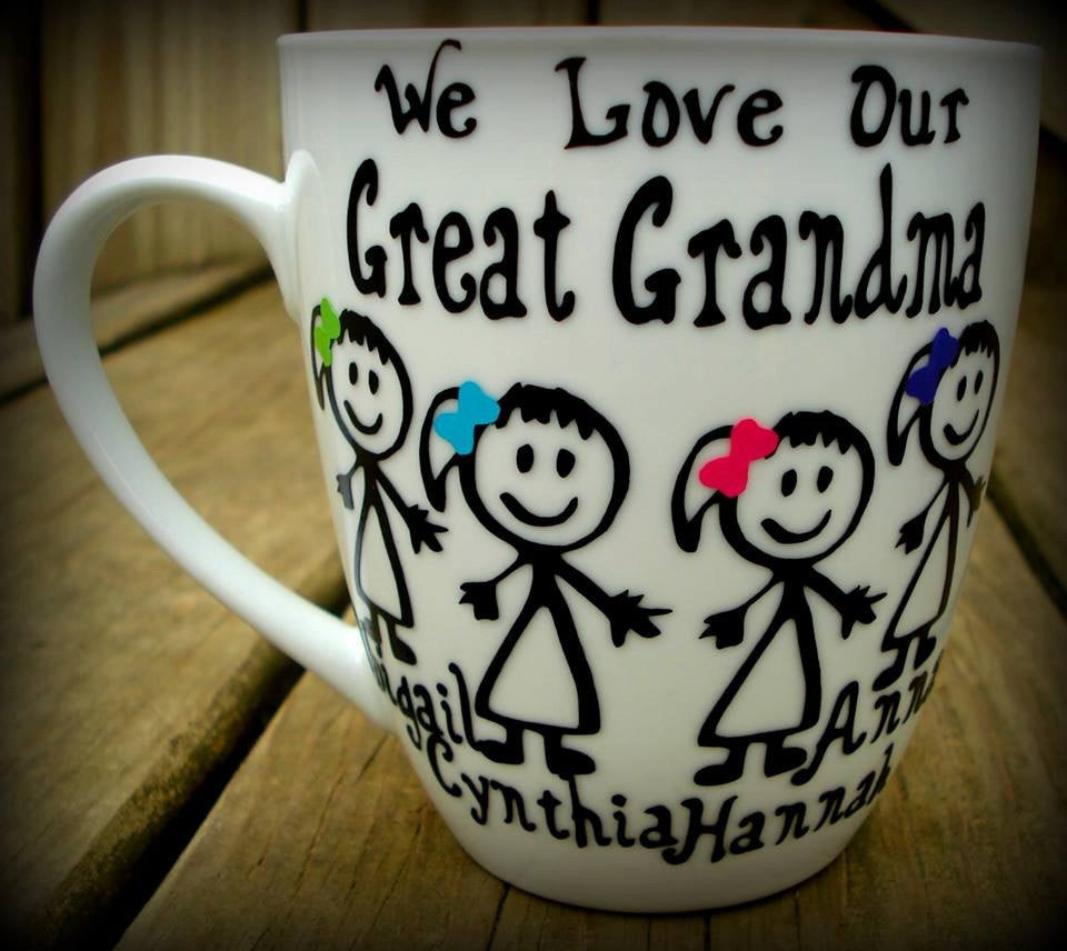 Best ideas about Gift Ideas For Great Grandma . Save or Pin Personalized great grandma t great grandpa mug unique Now.