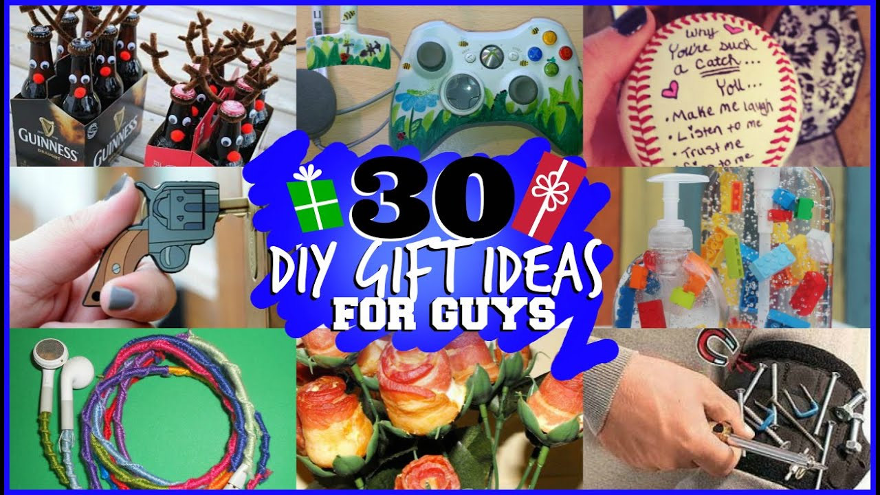 Best ideas about Gift Ideas For Guy Best Friend . Save or Pin 30 DIY GIFT IDEAS FOR GUYS they will actually like Now.