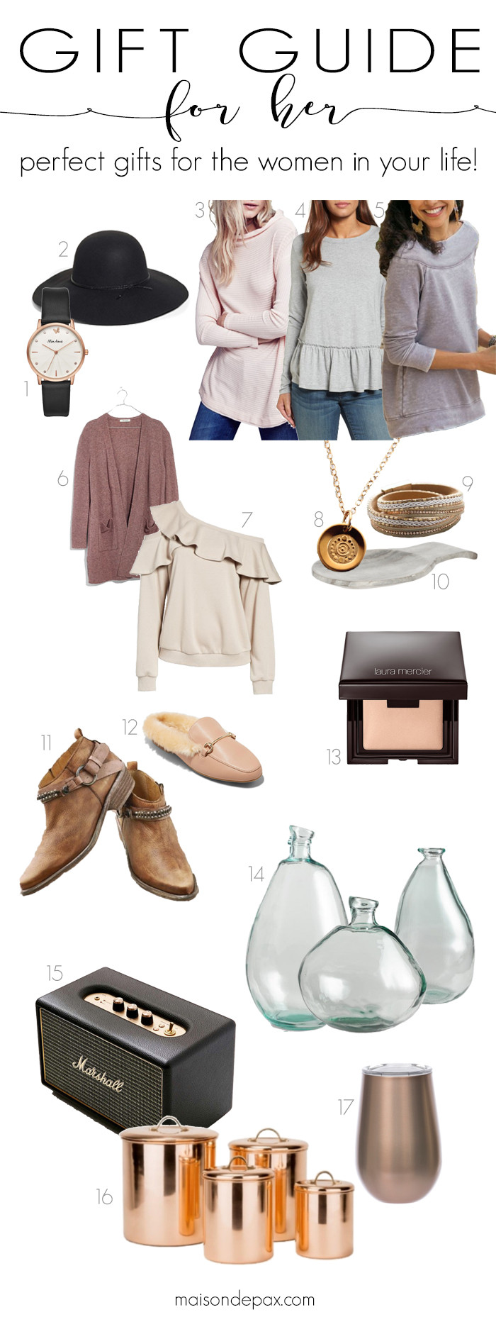 Best ideas about Gift Ideas For Her . Save or Pin Gift Ideas For Her Maison de Pax Now.