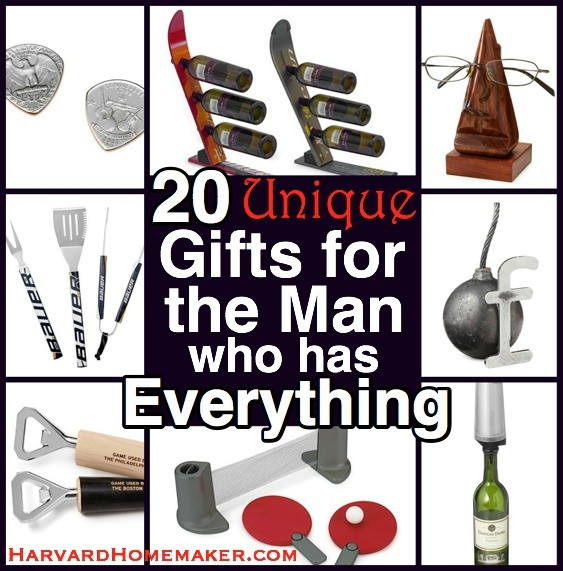 Best ideas about Gift Ideas For Man Who Has Everything . Save or Pin 20 Unique Gifts for the Man Who Has Everything Now.