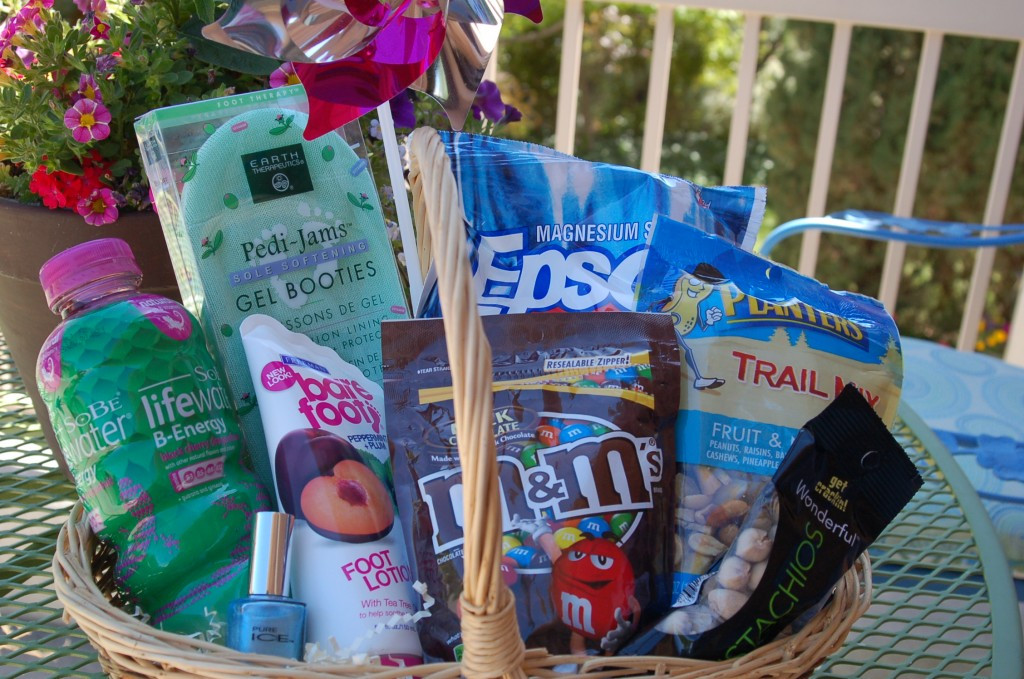 Best ideas about Gift Ideas For Marathon Runners . Save or Pin Marathon Gift Basket Pink Polka Dot Creations Now.