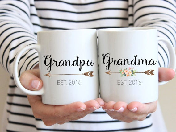 Best ideas about Gift Ideas For New Grandparents . Save or Pin Gift for Grandparents Mug Set Couples Mug by Now.