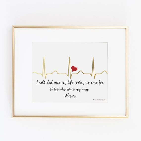 Best ideas about Gift Ideas For Nursing Students . Save or Pin Gift for Nurse Nurse Gift Nurse Nursing Student EKG I Now.