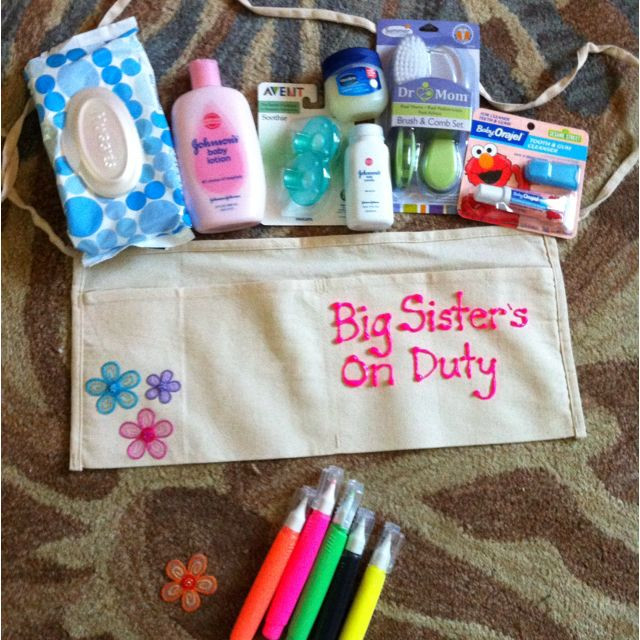 Best ideas about Gift Ideas For Sibling From New Baby . Save or Pin Big Sister shower t saw this idea online and made it Now.