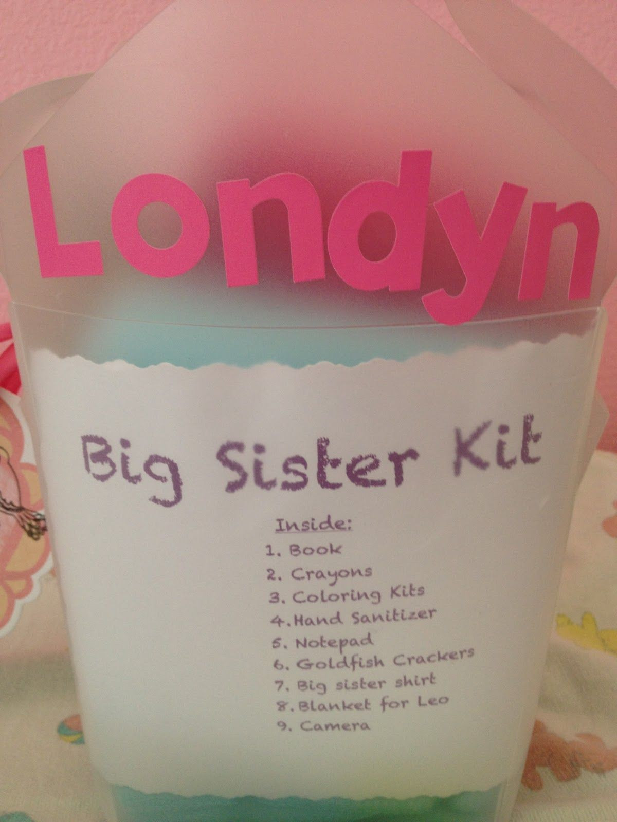Best ideas about Gift Ideas For Sibling From New Baby . Save or Pin Big Sister Kit baby shower t Cute idea for the big Now.