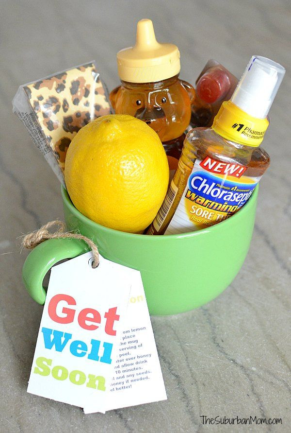 Best ideas about Gift Ideas For Sick Friend . Save or Pin Get Well Soon Gift Basket With Free Printable Tag Now.