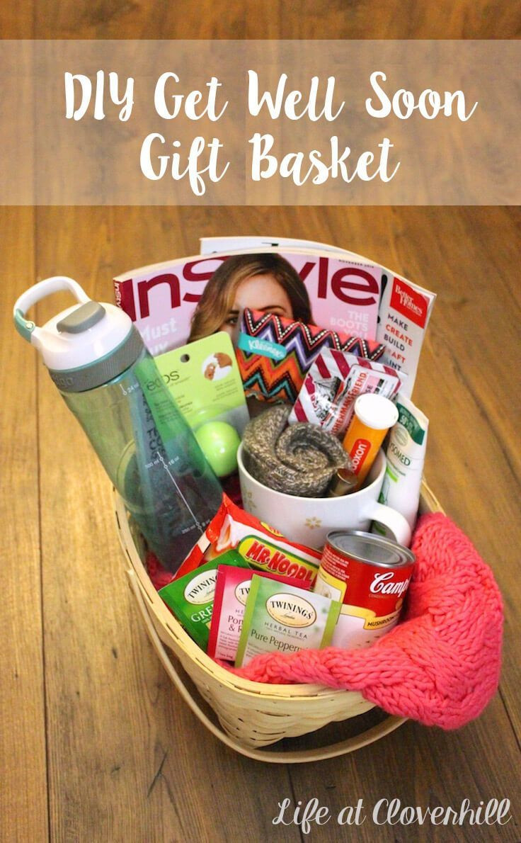 Best ideas about Gift Ideas For Sick Friend . Save or Pin DIY Get Well Soon Gift Basket for Friends and Family Who Now.