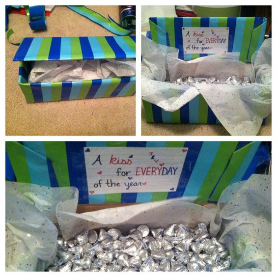 Best ideas about Gift Ideas For Teen Boyfriend . Save or Pin 365 Hershey kiss t box Creative t for a partner Now.
