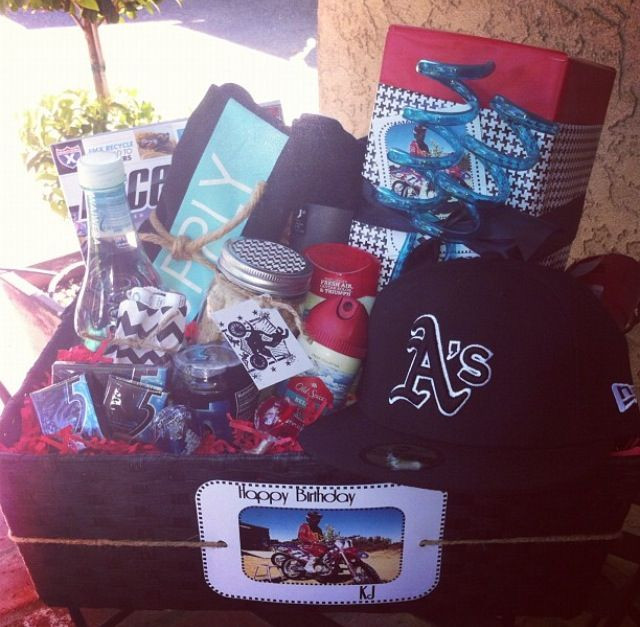 Best ideas about Gift Ideas For Teen Boyfriend . Save or Pin DIY t basket for teenage boys perfect present Now.