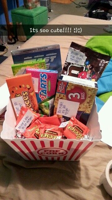 Best ideas about Gift Ideas For Teen Boyfriend . Save or Pin Boyfriend Christmas t idea a t basket full of Now.