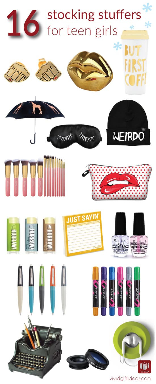 Best ideas about Gift Ideas For Teen Girls . Save or Pin 16 Stocking Stuffer Ideas for Teenage Girls Vivid s Gift Now.