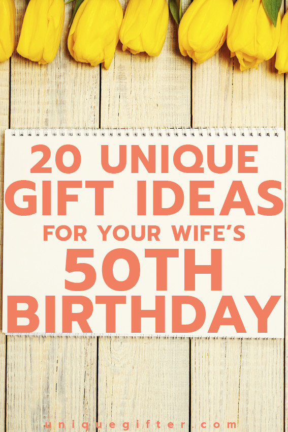 Best ideas about Gift Ideas For Wife . Save or Pin 20 Gift Ideas for your Wife's 50th Birthday Unique Gifter Now.