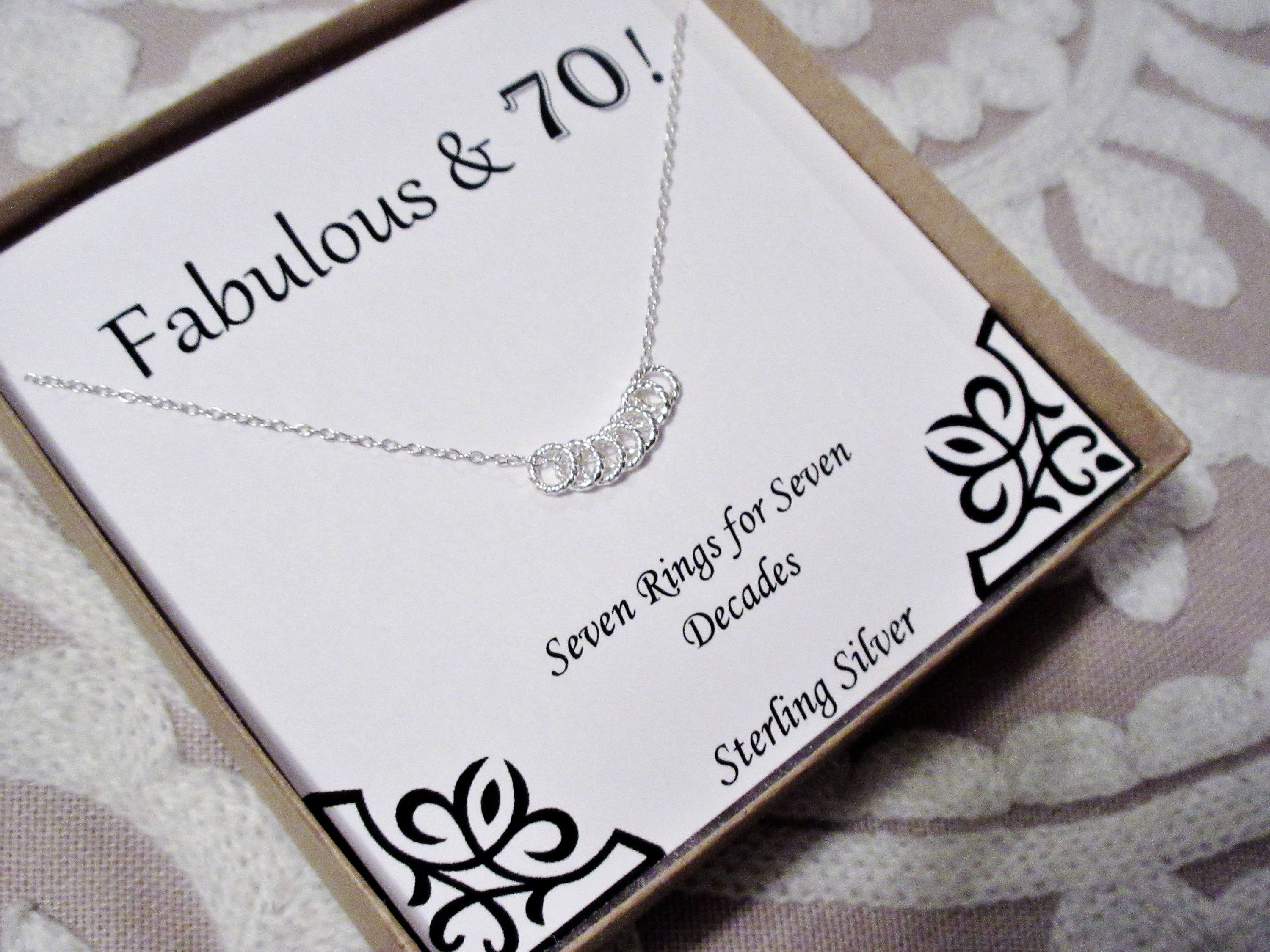 Best ideas about Gift Ideas For Womans 70Th Birthday . Save or Pin 30th 40th 50th 60th 70th 80th 90th Birthday Present Necklace Now.