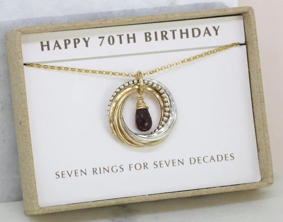 Best ideas about Gift Ideas For Womans 70Th Birthday . Save or Pin 70th birthday t for women garnet necklace for January Now.