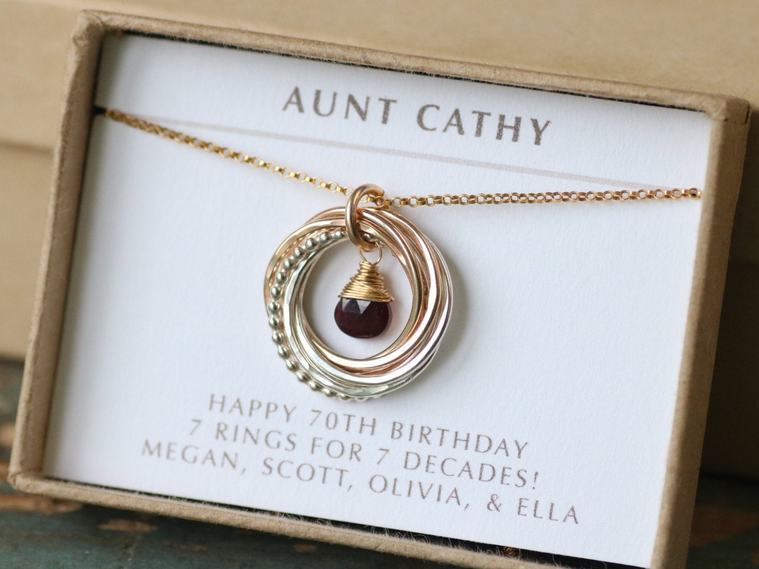 Best ideas about Gift Ideas For Womans 70Th Birthday . Save or Pin 70th birthday t for women garnet necklace jewellery Now.