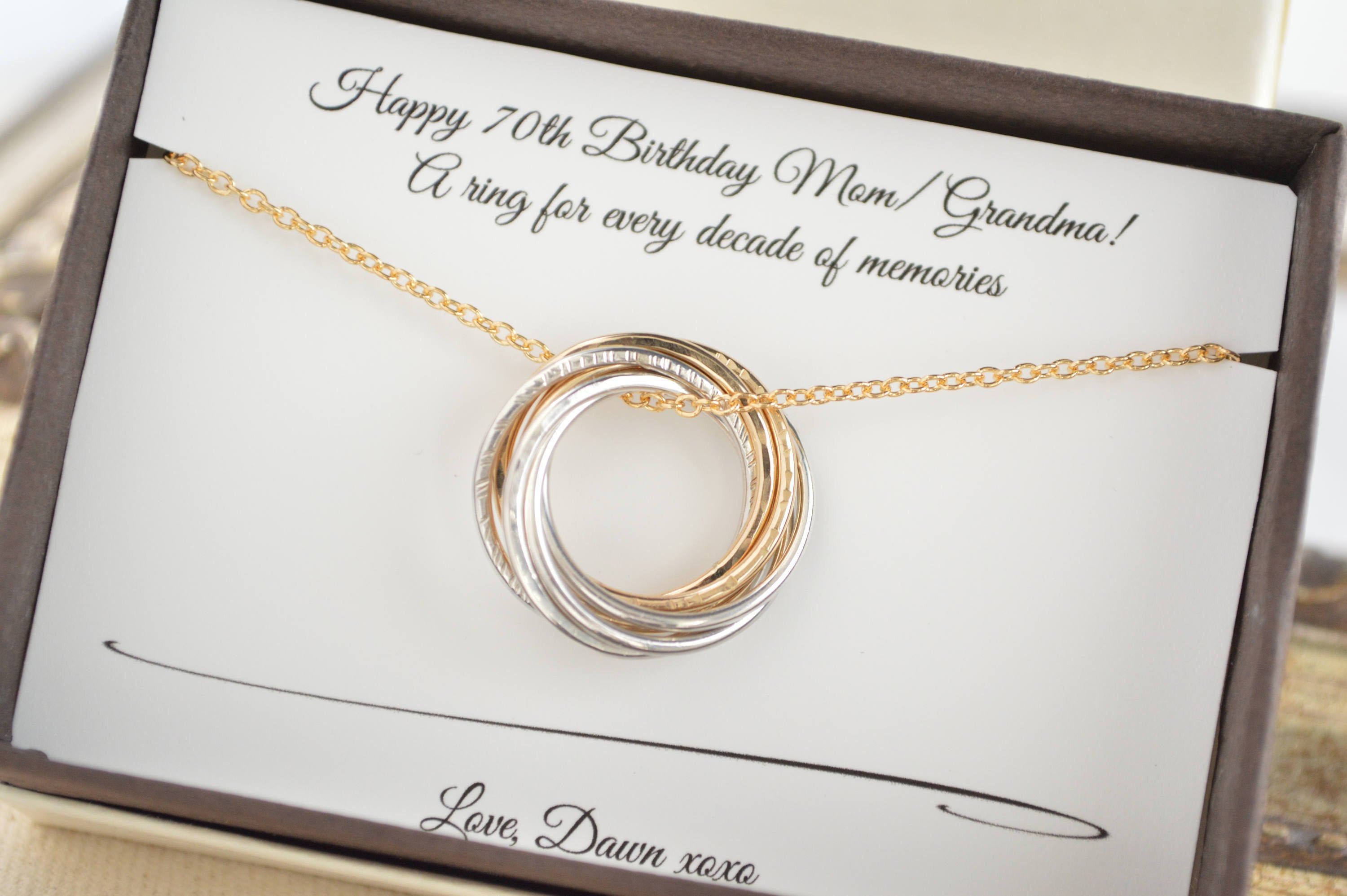 Best ideas about Gift Ideas For Womans 70Th Birthday . Save or Pin 70th Birthday t for Mom and grandma necklace 7th Now.