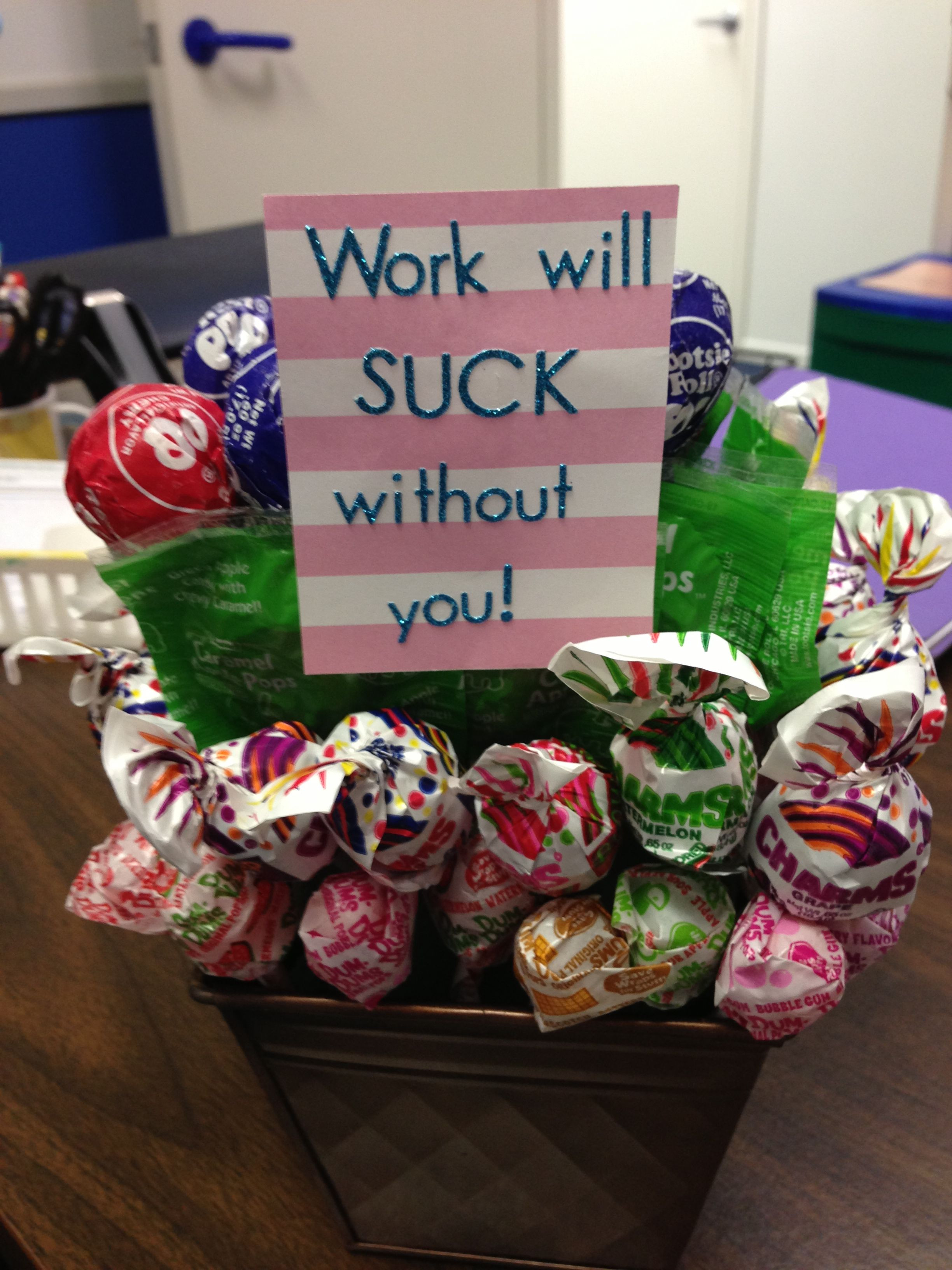 Best ideas about Gift Ideas For Work . Save or Pin Lollipop goodbye t Random Now.