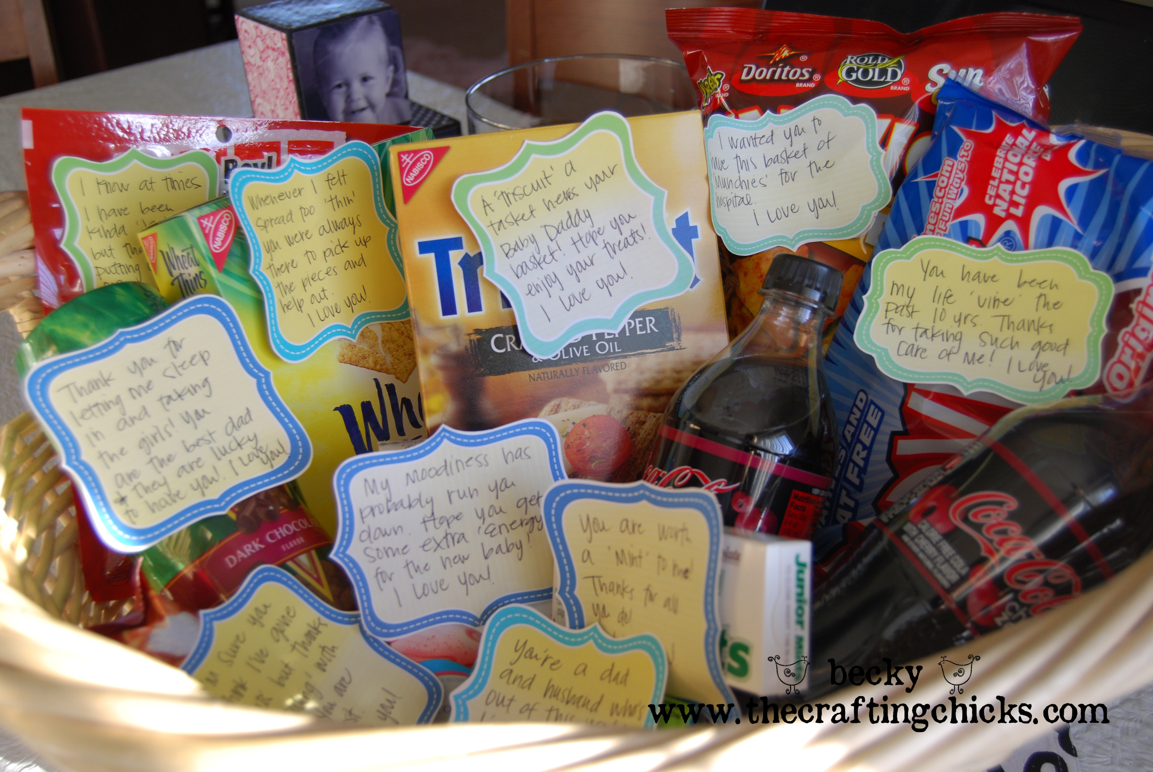Best ideas about Gift Ideas From Baby To Dad . Save or Pin New Daddy Gift Basket The Crafting Chicks Now.