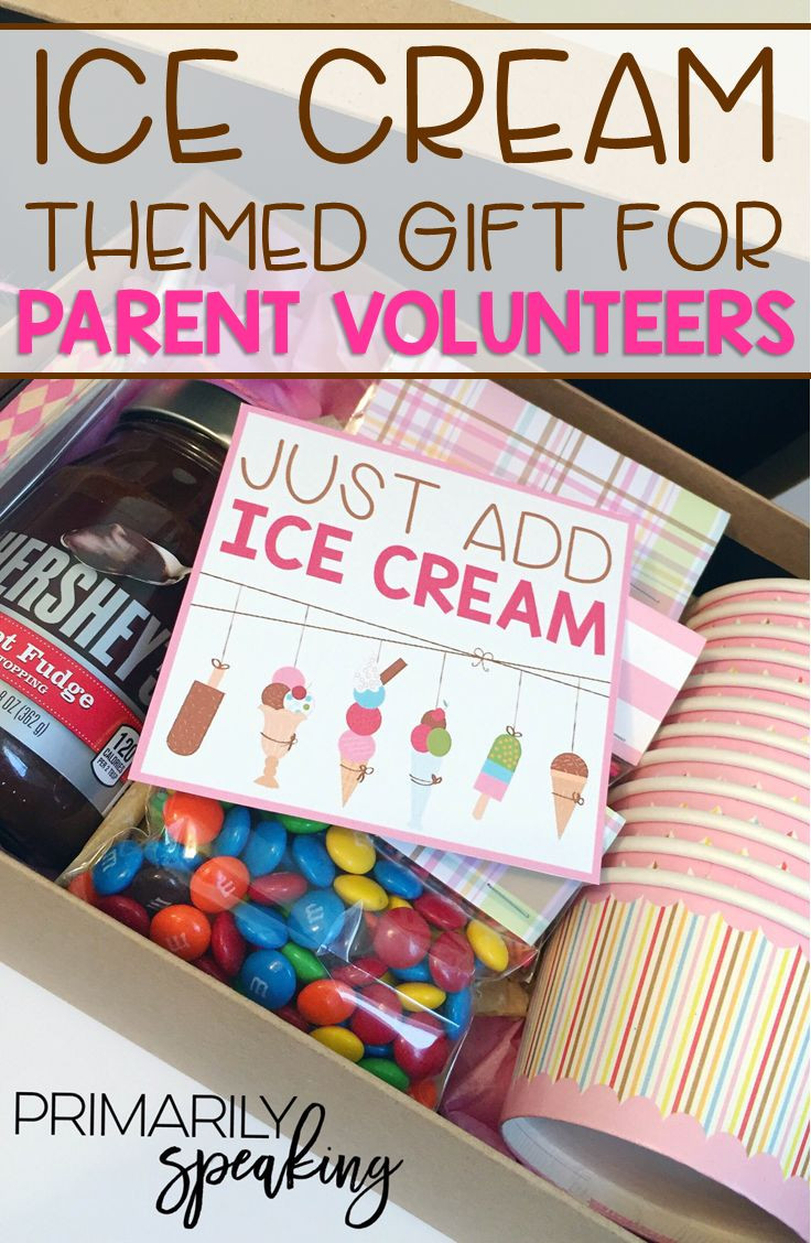 Best ideas about Gift Ideas Parents . Save or Pin Ice Cream Themed Parent Volunteer Gift Now.