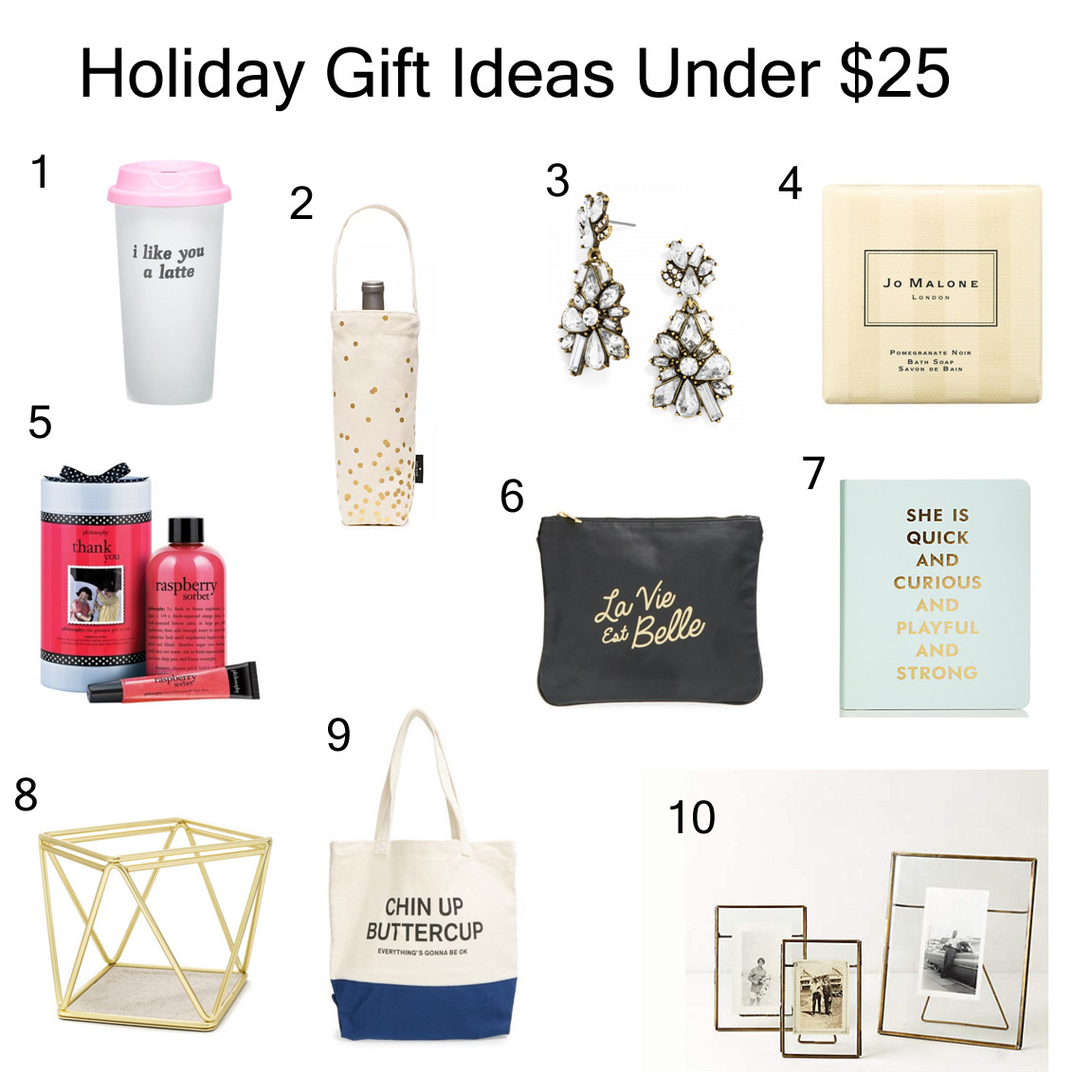 Best ideas about Gift Ideas Under $25 . Save or Pin Holiday Gift Ideas Under $25 Nicole to the Nines Now.